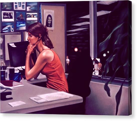 The Office Canvas Print by Glenn Bernabe