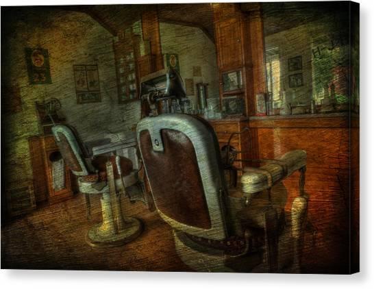 The Old Barbershop - Vintage - Nostalgia Canvas Print