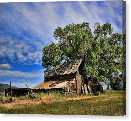 The Old Barn Canvas Print by Gene Praag
