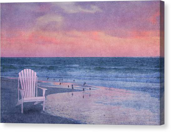 Sandpipers Canvas Print - The Old Beach Chair by Betsy Knapp