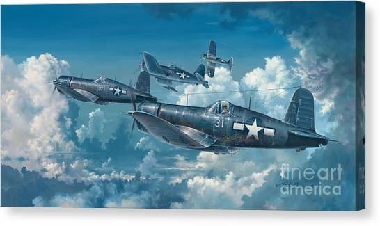 Wwi Canvas Print - The Old Breed by Randy Green