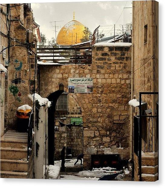 Palestinian Canvas Print - The Old City Of Jerusalem, Looking From by Glen Thomson