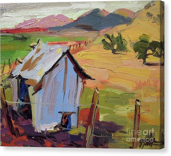 The Old Feed Shed Canvas Print