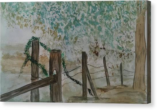 the Old fence Canvas Print