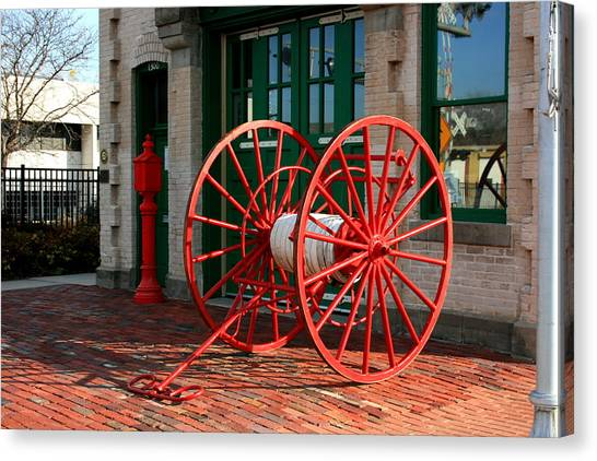 The Old Fire House Canvas Print