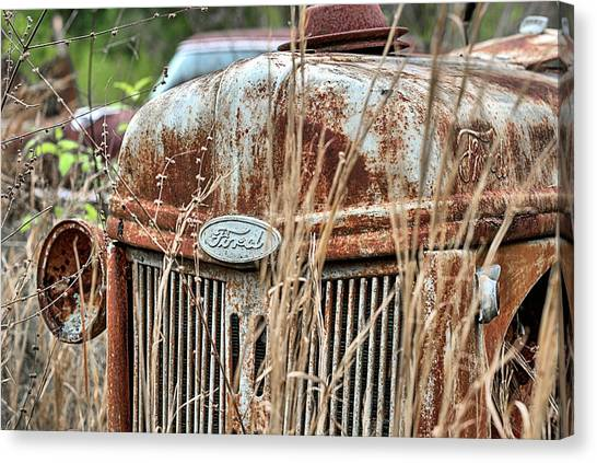 The Old Ford Tractor Canvas Print by JC Findley