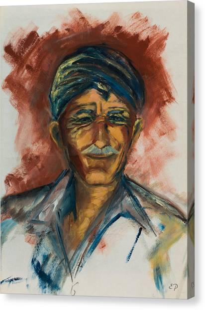 Crete Canvas Print - The Old Greek Man by Elise Palmigiani