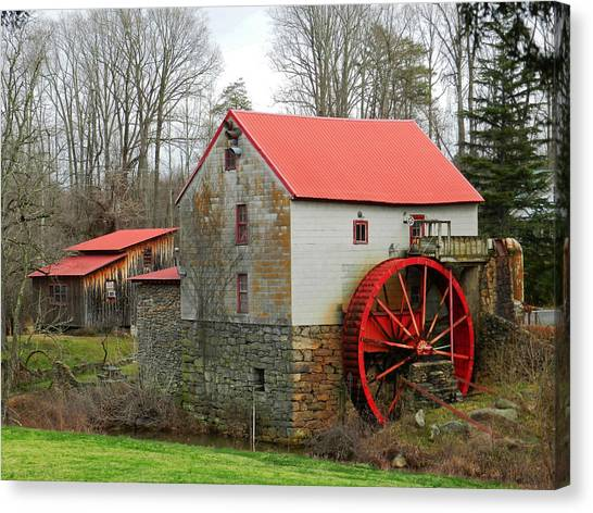 The Old Guilford Mill Canvas Print