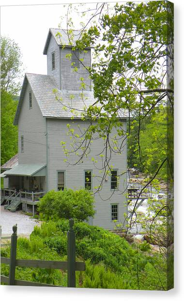 The Old Kingsley Mill Canvas Print by Rosalie Scanlon