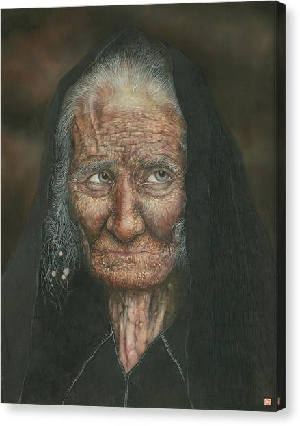 The Old Lady Canvas Print by Connor Maguire