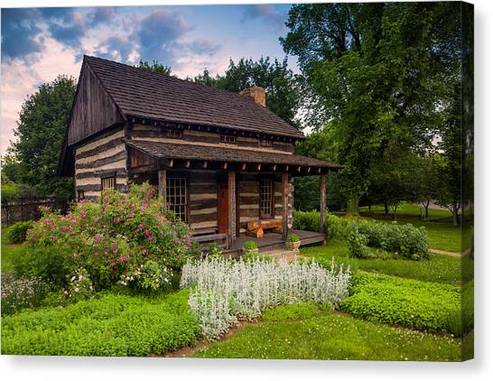 Ohio Valley Canvas Print - The Old Log Home  by Emmanuel Panagiotakis