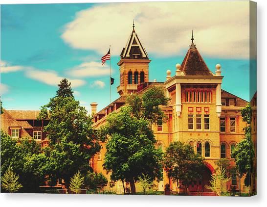 Utah State University Canvas Print - The Old Main - Utah State University by Pixabay