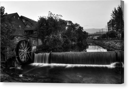 The Old Mill In Black And White Canvas Print