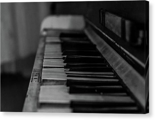 The Old Piano Canvas Print