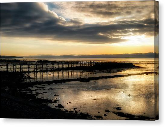 The Old Pier In Culross, Scotland Canvas Print
