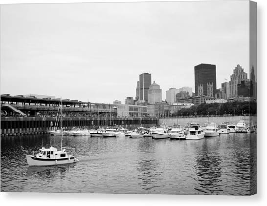 The Old Port In Montreal Canvas Print by Martin Rochefort