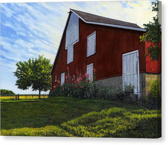 The Old Stucco Barn Canvas Print