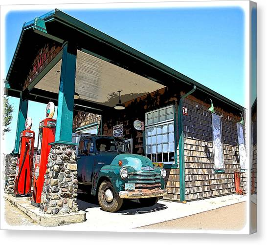 The Old Texaco Station Canvas Print