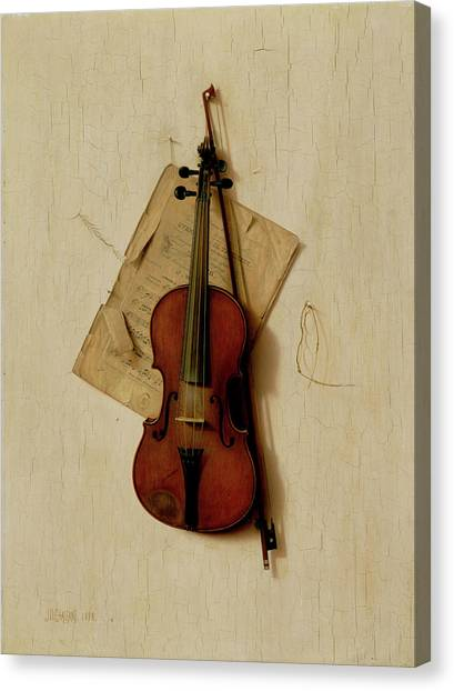 Music Genres Canvas Print - The Old Violin by Jefferson David Chalfant