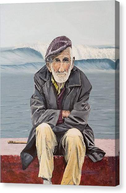 The Old Waterman Canvas Print