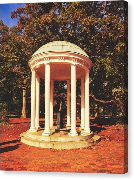 University Of North Carolina Chapel Hill Canvas Print - The Old Well - University Of North Carolina by Library Of Congress