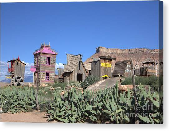 The Old Western Town  Canvas Print