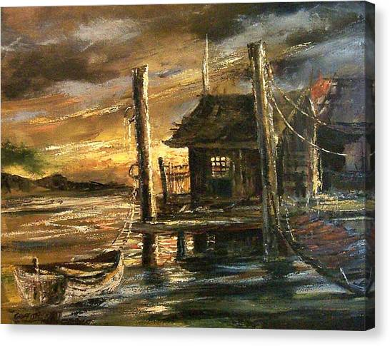 The Old Wharf Canvas Print by Don Griffiths