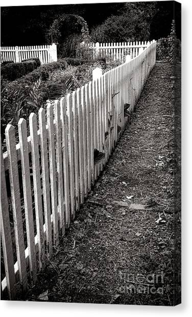 Vegetable Garden Canvas Print - The Old White Picket Fence by Olivier Le Queinec