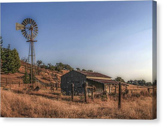 Canvas Print featuring the photograph The Old Windmill by Break The Silhouette