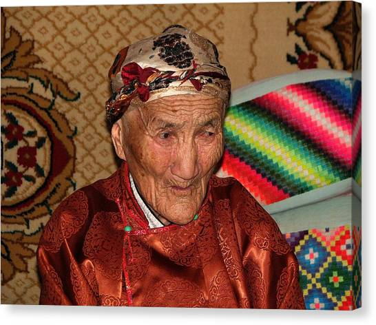 The Old Woman Of The Gobi Canvas Print