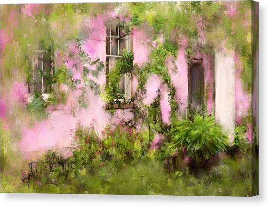 The Olde Pink House In Savannah Georgia Canvas Print