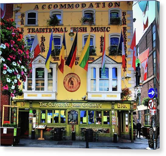 The Oliver St John Goarty Bar Dublin Canvas Print
