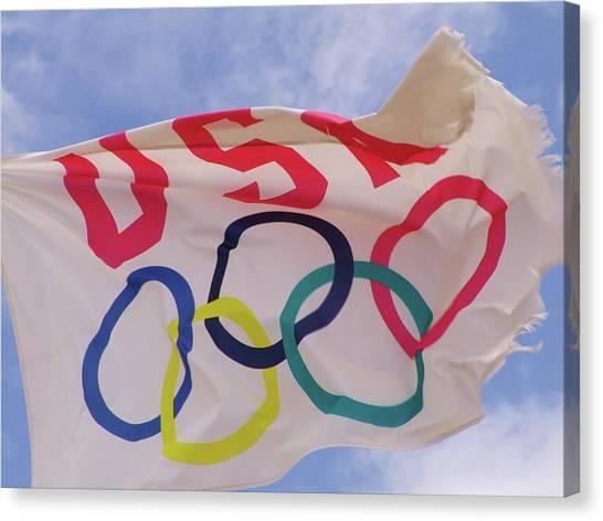 The Olympic Flag Canvas Print