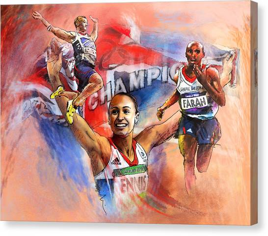 The Olympics Night Of Gold Canvas Print