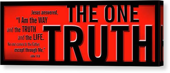 The One Truth Canvas Print