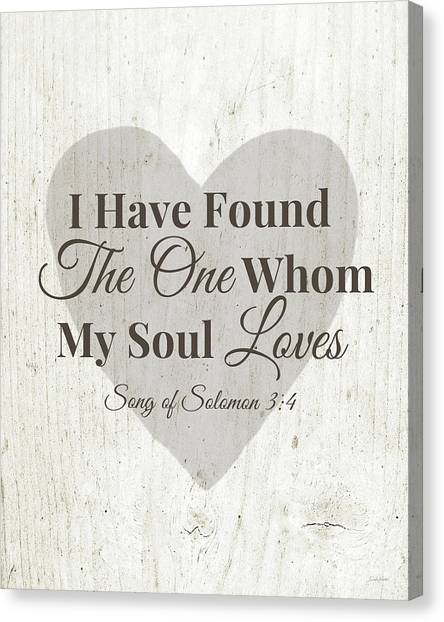 Heart Canvas Print - The One Whom My Sould Loves- Art By Linda Woods by Linda Woods