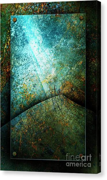 Canvas Print featuring the mixed media The Only Way by Shevon Johnson