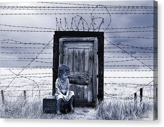 Detention Canvas Print - The Orphaned Child by Spadecaller