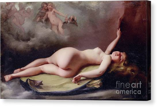 The Opium Smoker Canvas Print by Reproduction