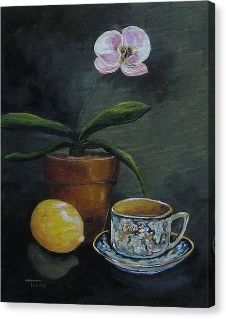 The Orchid And The Dragon  Canvas Print by Torrie Smiley