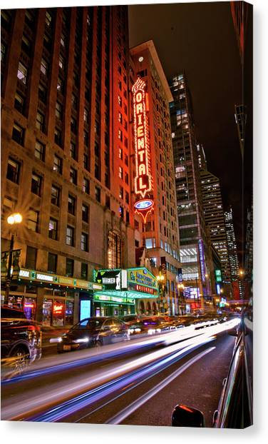 The Oriental Theater Chicago Canvas Print
