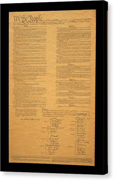 Washington Nationals Canvas Print - The Original United States Constitution by Panoramic Images