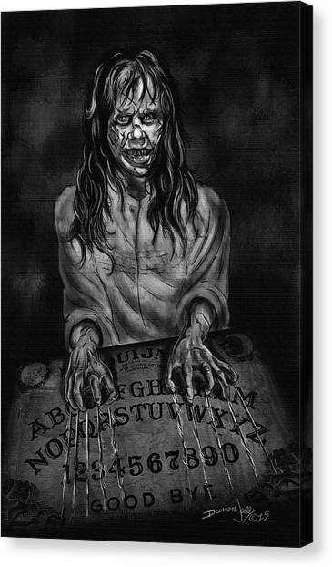 The Exorcist Canvas Print - The Ouija Board by Darren Jolly