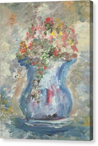The Oval Vase Canvas Print by Edward Wolverton