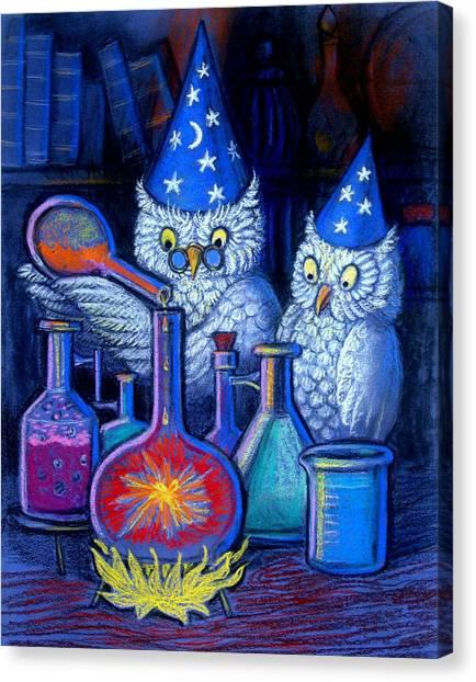 The Owl Chemists Canvas Print