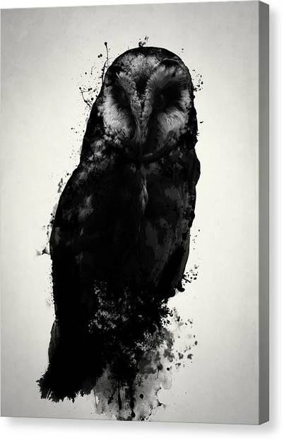 Owls Canvas Print - The Owl by Nicklas Gustafsson
