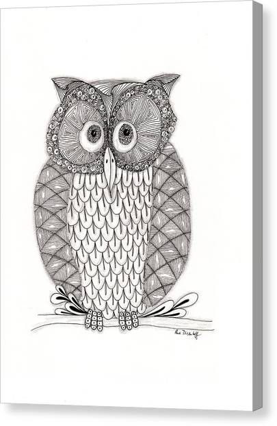 Owls Canvas Print - The Owl's Who by Paula Dickerhoff