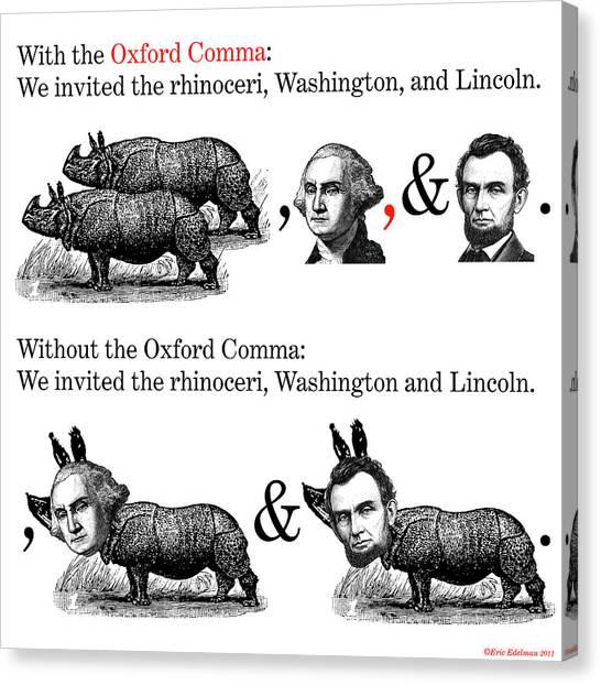 The Oxford Comma Canvas Print