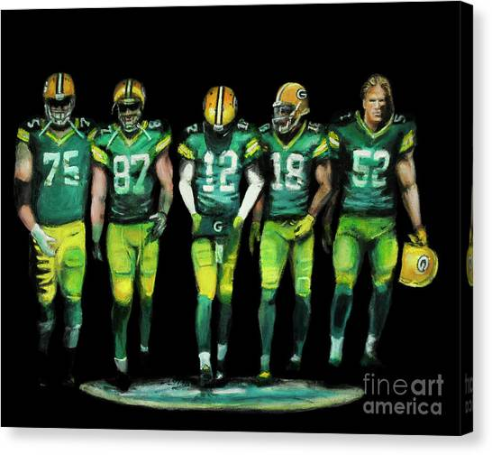 Clay Matthews Canvas Print - The Pack by David Evans
