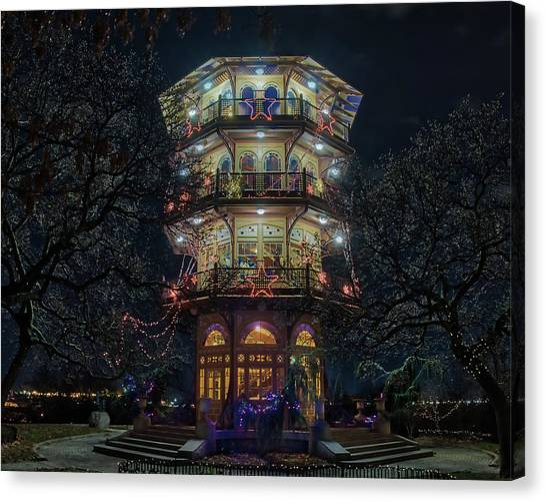 The Pagoda At Christmas Canvas Print